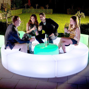 Remote control 16 colors led outdoor furniture