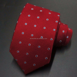 polka dots red wholesale neckties