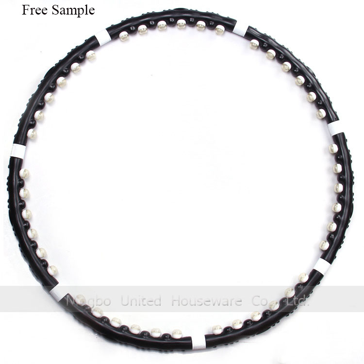 Wholesale Factory Price Plastic Detachable Indoor Fitness Magnetic Massage Hula Hoop