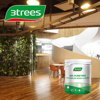 3TREES Low VOC Waterbased Wood Lacquer 30% Gloss Paint Finish(white)