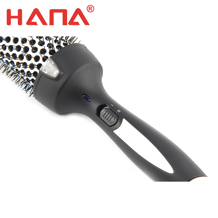 HANA tourmaline costing barrel curling brush for short hair