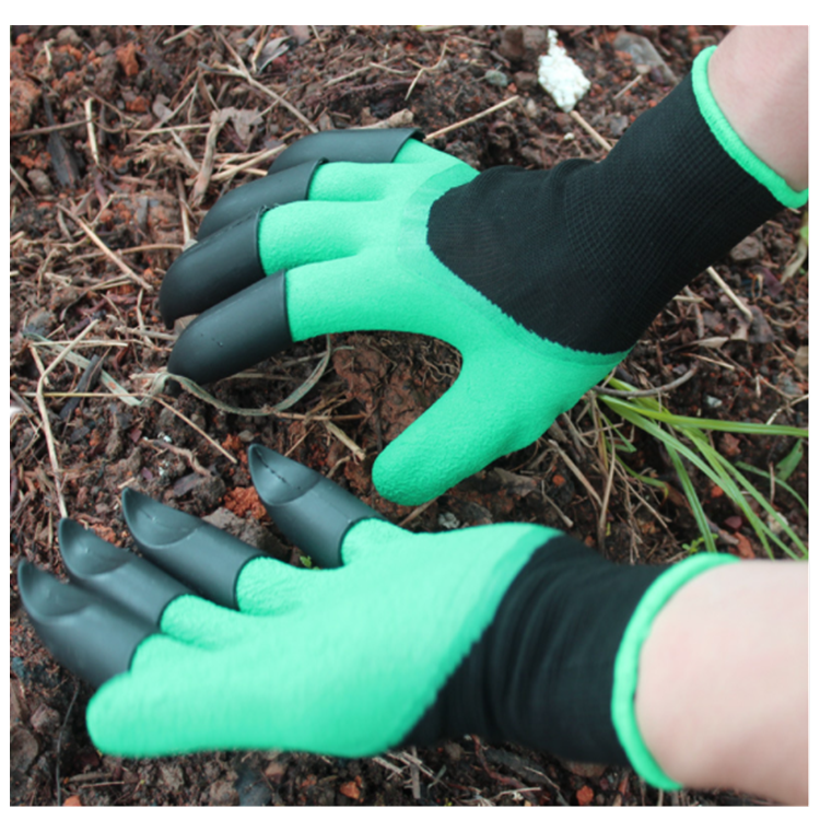 Garden <strong>Gloves</strong> with Fingertips Claws on Each Hand- for Right Handers & Left Handers- for Digging and Planting