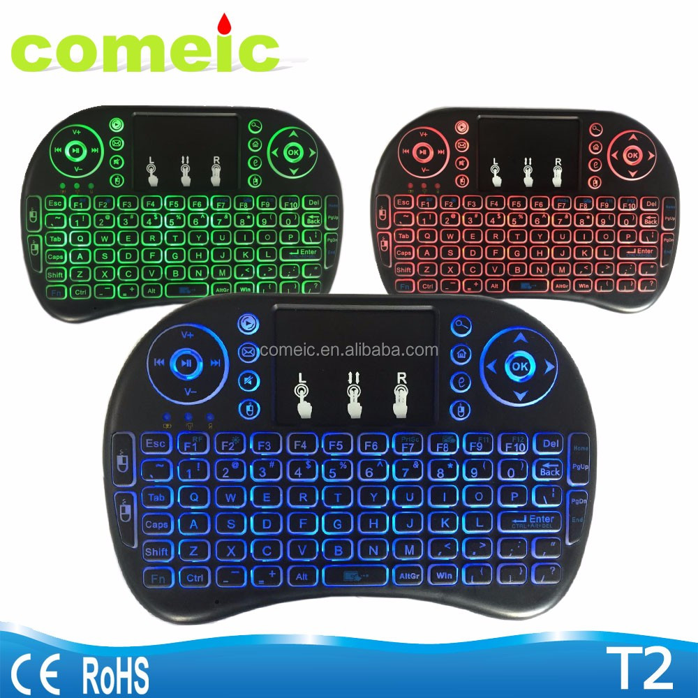 android remote rominetak [wireless touchpad backlit mini keyboard
