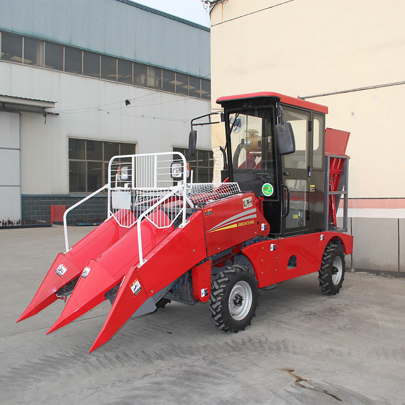 china manufacturer high quality 2 row corn combine harvester