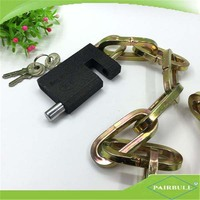 on sale master hexagonal ring golden plating iron chain lock for bike