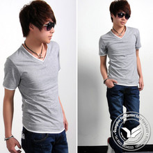 240 grams hot sale spandex/polyester cotton t shirts wash water
