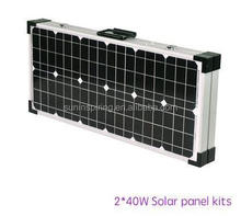 2 X 40W Solar Panel Kits For Camping , Sunpower Solar Cells