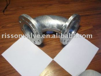 Stainless steel flanged elbow