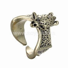 Wholesale new cute antique silver creative 3 d animal openings bat ring