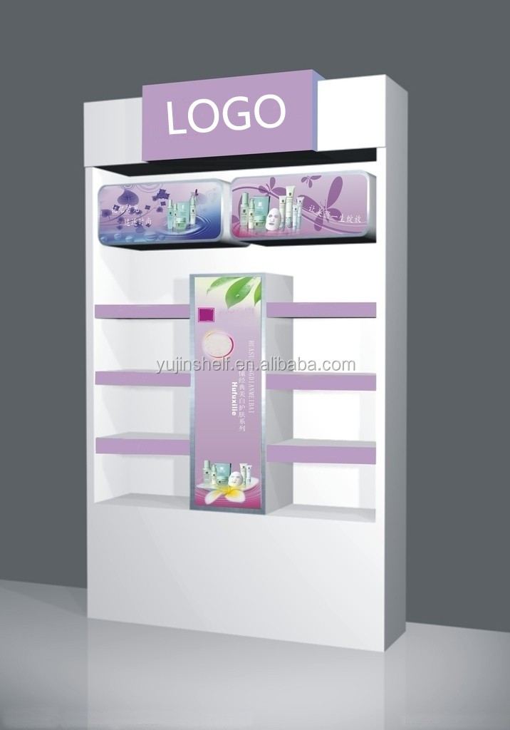 Nice Beauty Products Display Cabinet/Cosmetic Shop Counter Design/ Beauty  Cosmetic Wall Display