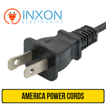 UL 2pin power cord with connector IEC C7 / industrial power plug