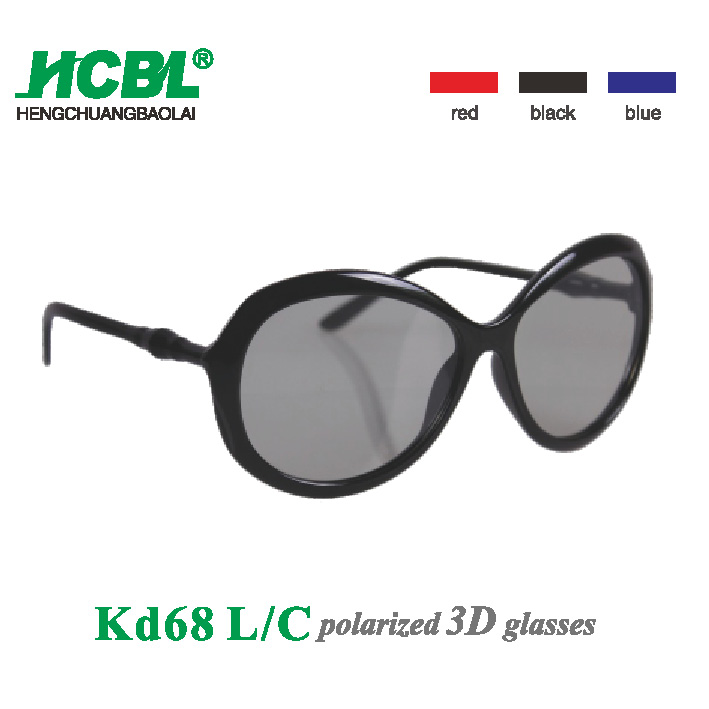 Fashion Videos 3D Glasses Plastic Passive 3D Polarized Glasses