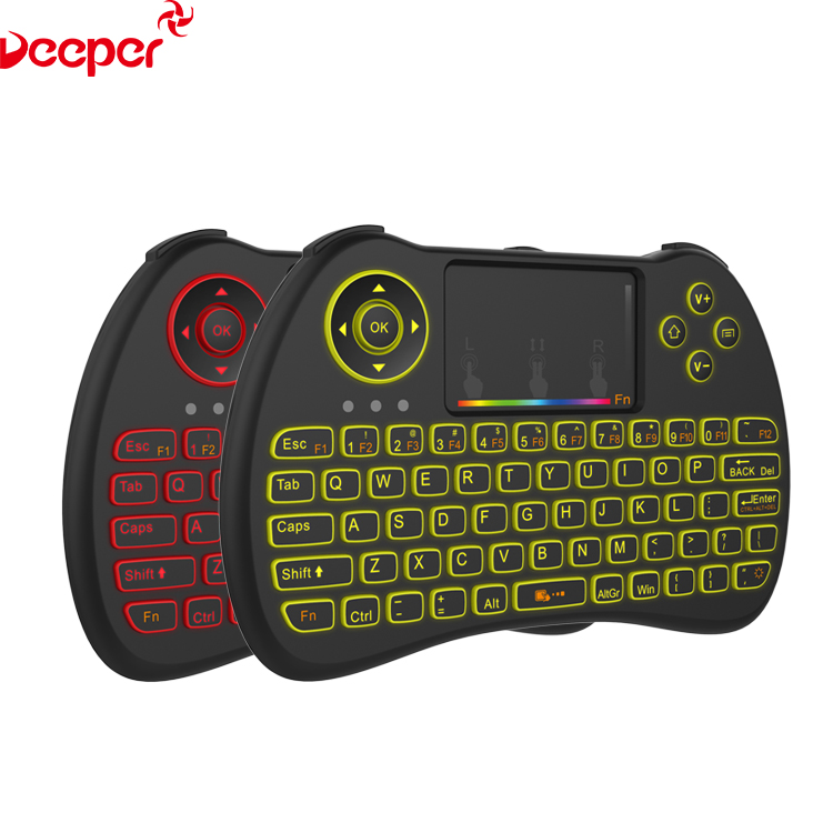 2.4G Mini Fly Air Gyro Mouse Wireless Keyboard H9 Backlit With Different Colors