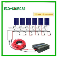 600W COMPLETE KITS: 6*100W PV Poly Solar Panel for Home System RV Boat Charge