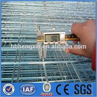PVC Coated Frame Finishing and Iron Metal Type welded wire mesh fence panels in 6 gauge