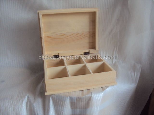 Factory Price Unfinished Wooden Book Box For Tea