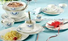 Super white porcelain dinner set