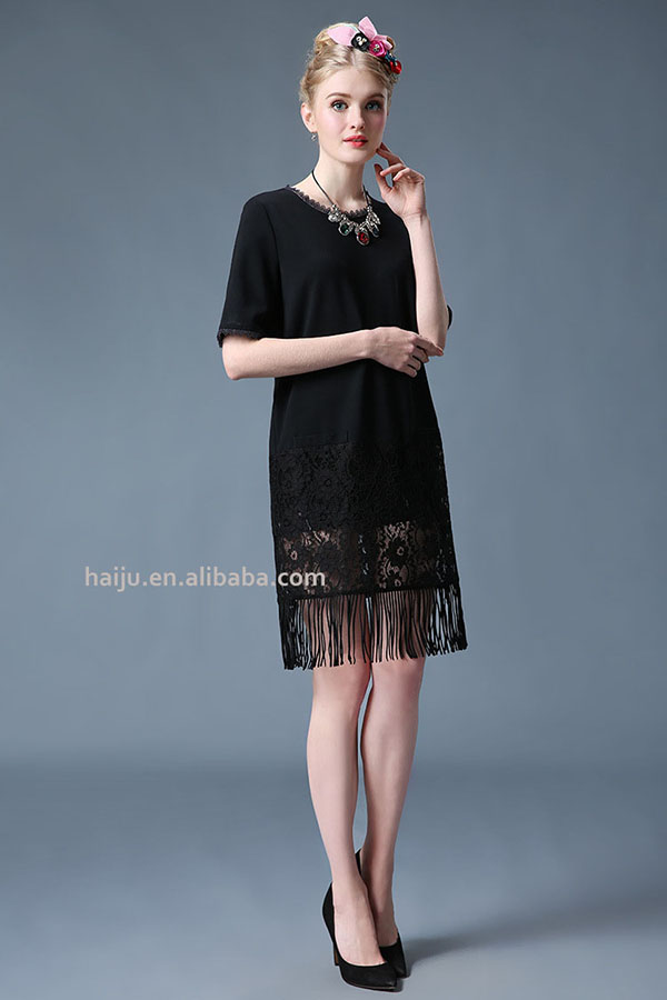 Fashion latest Black lace first night dress for women