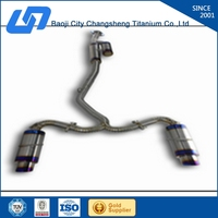 Professionally titanium muffler for TOYOTA with high quality