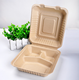 Natual Biodegradable Takeaway Box Recycle Paper Pulp Food Box Disposable