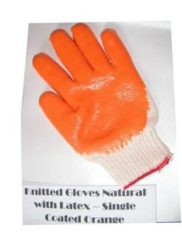 knitted gloves natural w/ latex