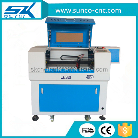senke mini laser cutting machine for rubber sponge carpet plastic engraving and cutting