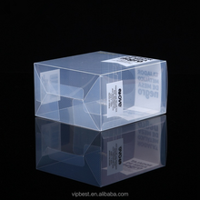 Square Small Gift Hard Packaging Clear Transparent PVC Plastic Box