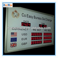 led currency bank exchange rate display \ led currency rate display with scrolling sign \ world forex currency rates
