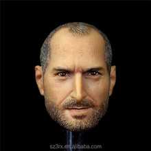 Famous person character Steve Jobs 1/6 head sculpt/custom famous head statue/high quality 1/6 action figure head