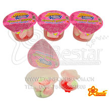 Strawberry Shape Marshmallow With Fruity Jam
