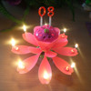 Color and yes Handmade Number sparkling flower music birthday cake candle
