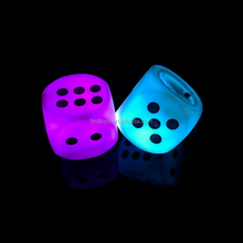 multi color christmas light up cube lighted dice toys for kids