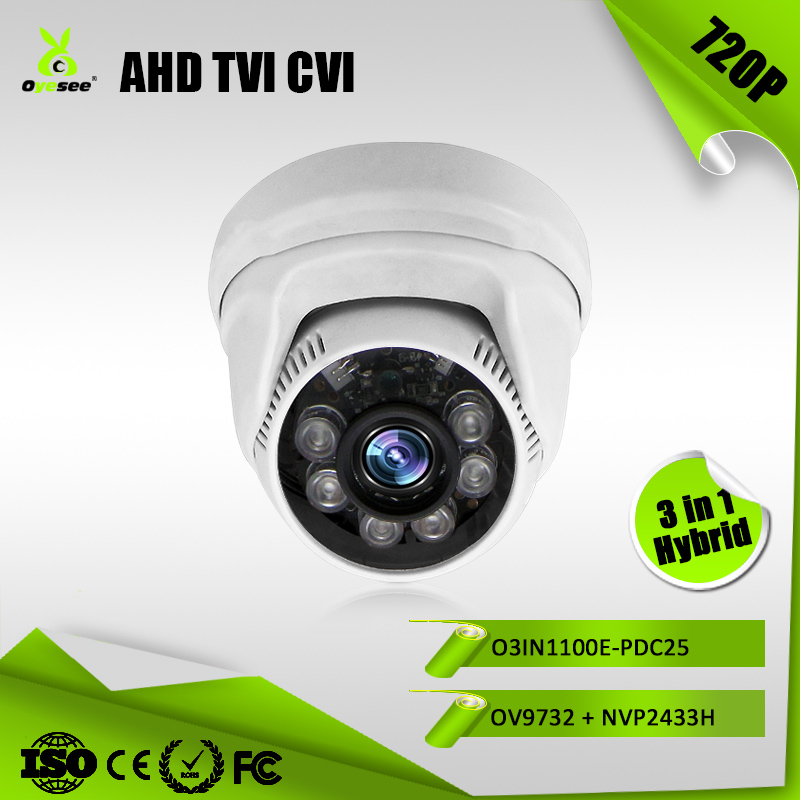 1MP 720P 20m IR Range fixed lens Hybrid 3 in 1 AHD TVI CVI HD home video wlan camera with high definition video