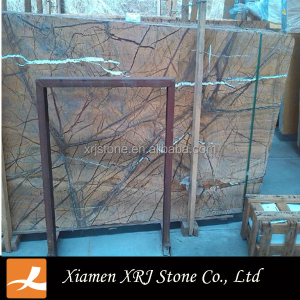 High quality cheap indian Rain Forest Brown marble for decoration/wall/floor tile on sale