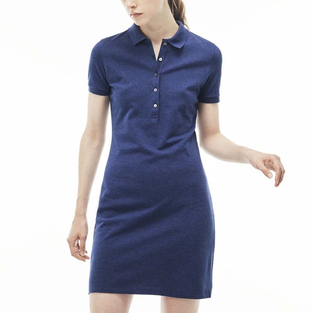 Guangdong online shopping wholesale clothing plus sizes polyester polo long shirt ladies dresses in shopping websites