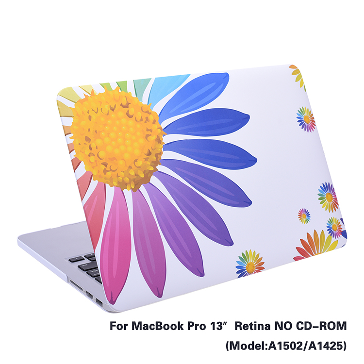 Shockproof PC material crystal hard case for Apple MacBook Pro 13'
