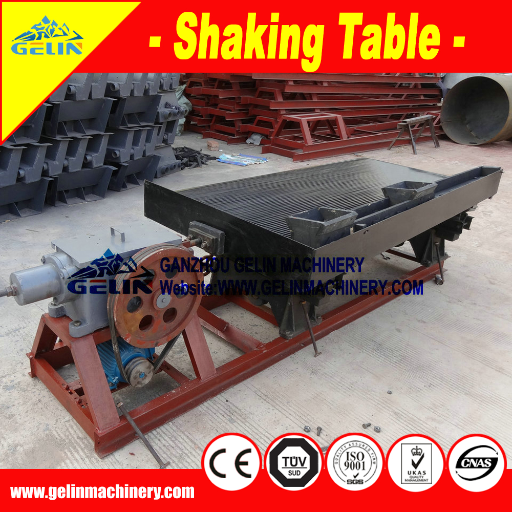 Mineral shaking table 1t/h mine gold for select rare metals,noble metal ore