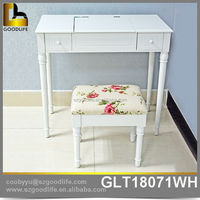 Bedroom furniture design mirrored wooden vanity dressing table
