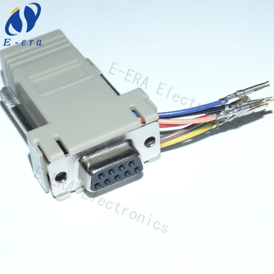 rj45 connector rj45 to db9 female