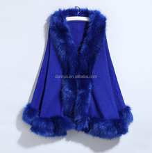 Fashion Faux Mink Fur Winter Ladies Fake Fur Shawl