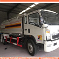 New 10 m3 12m3 sinotruck howo capacity fuel tank truck with pump petrol bowsers