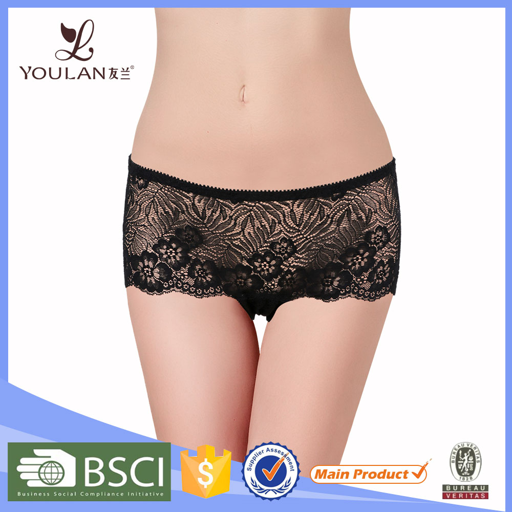 China Factory Embroidered Women Sex Panty
