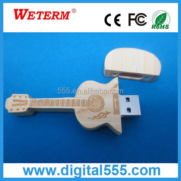 Wholesale gift items 4gb bulk wood instrument usb flash drive