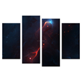 Shining Nebular HD Picture Printed on Canvas Breathtaking Space Scenery Giclee Print Wholesale Decorative Canvas Prints 4 Panels