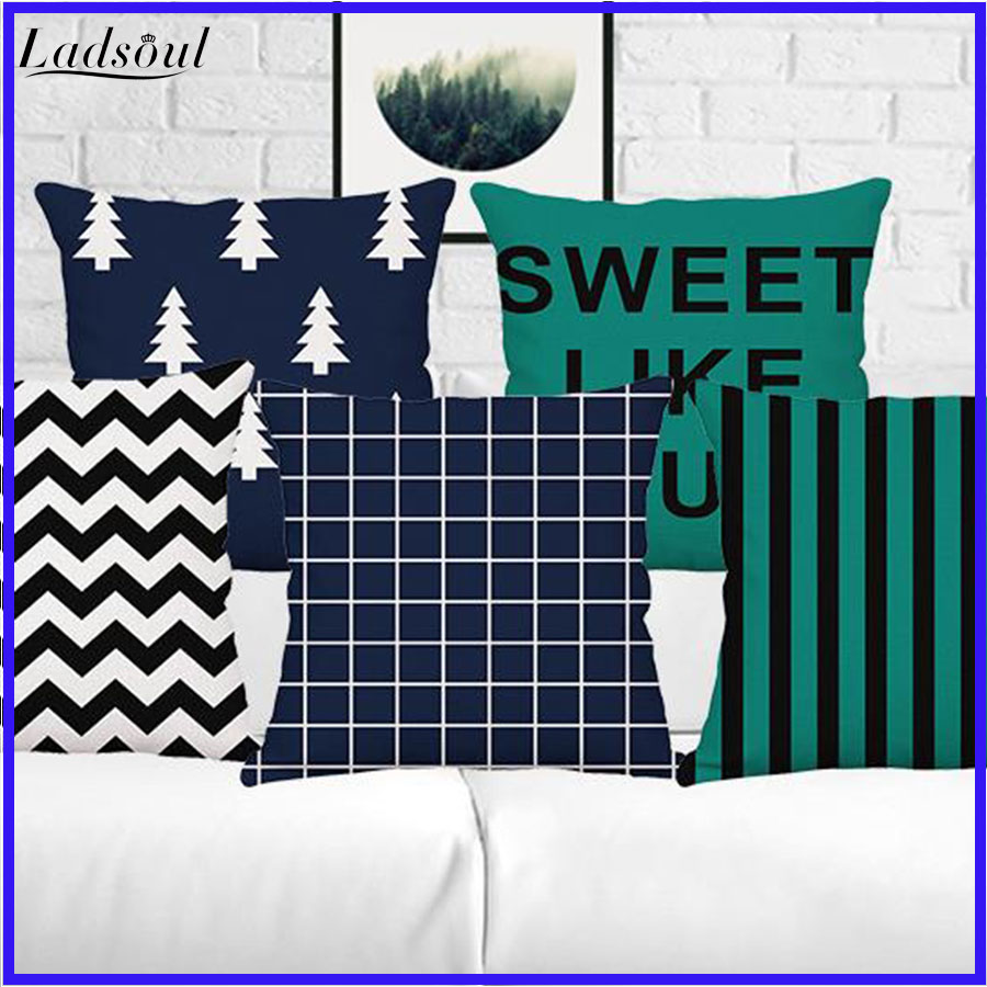 Geometric Simple Stripes Digital Printing Pillow Case