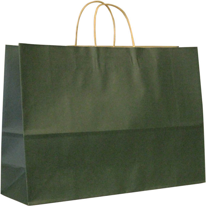120gsm brown craft paper bag for shopping with twisted paper handle