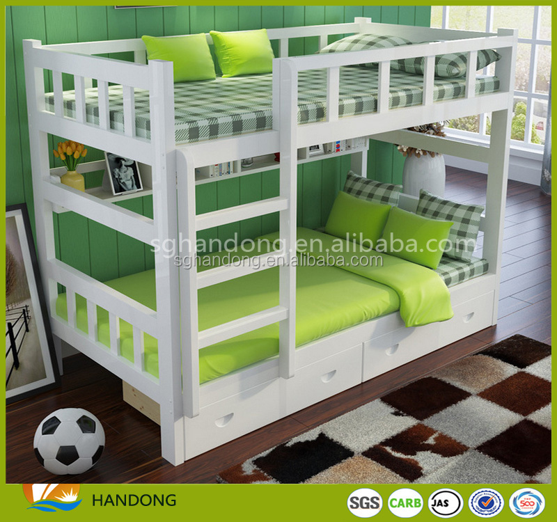 Hot Sale Kids Furniture Wood Children Double Layer Bunk Bed