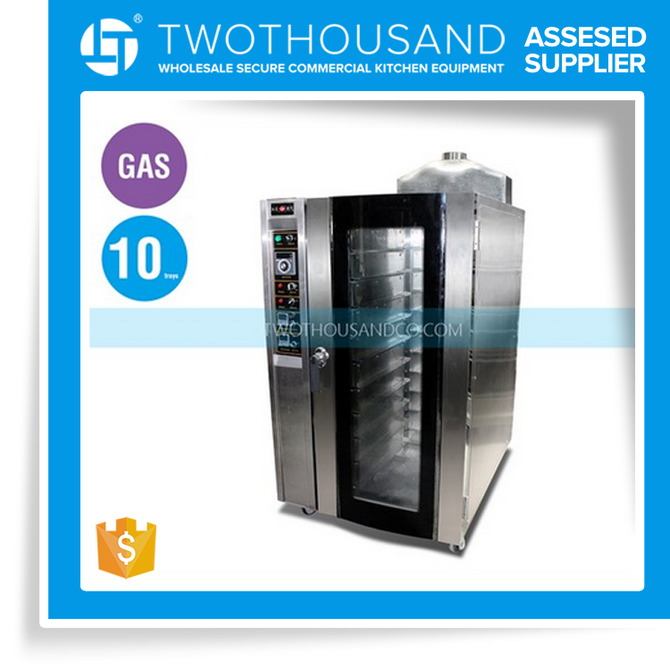 Restaurant or Bakery Professional 10 Trays Gas Convection Oven Cooking Equipment