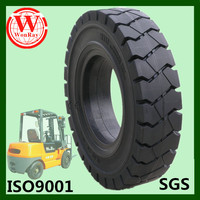 Good ride non pneus 750x15 solid tire for used forklift rental, solid tyre press available