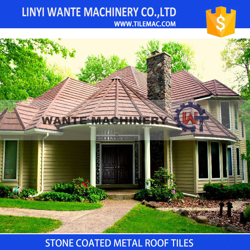 Most popular stone coated metal roof tiles from China in 2016 Canton Fair